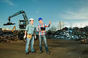 Umwelthaftpflichtversicherung - Besprechung auf einer Deponie