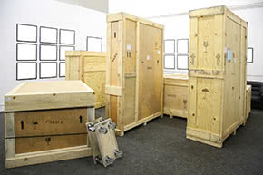 Ausstellungsversicherung - Kunstausstellungen Werke verpackt