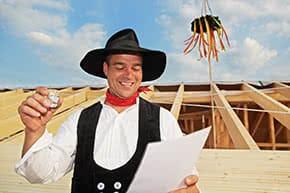 Baufinanzierung - Richtfest