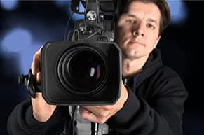 Berufshaftpflichtversicherung Kameramann – Kameramann bei der Arbeit